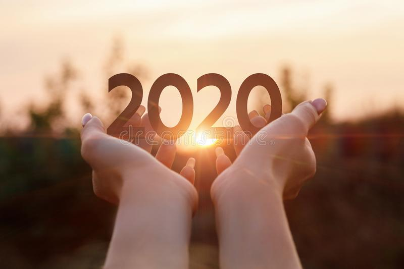 The new concept 2020 year stock images