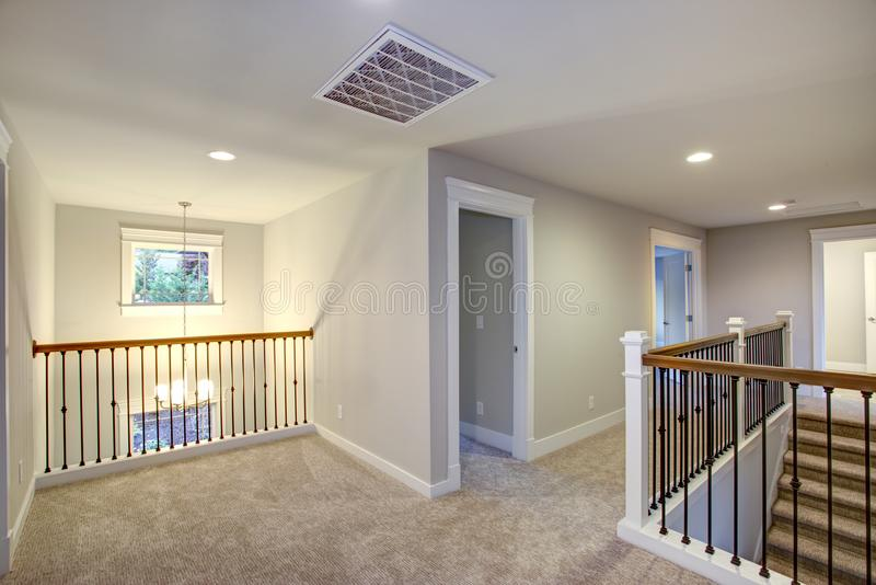 New construction home interior. Empty landing stock images