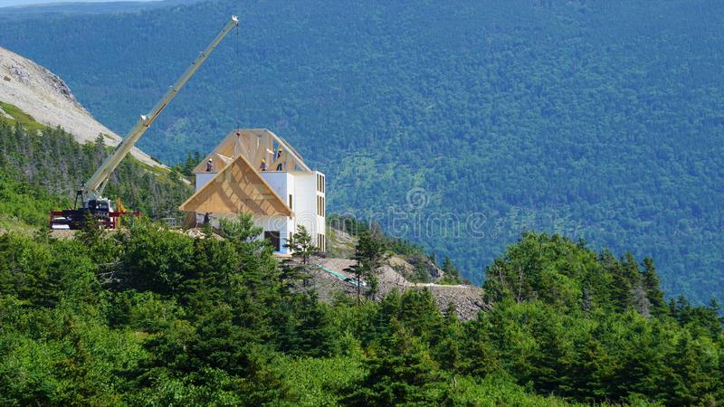 New construction in housing in western newfoundland royalty free stock photos
