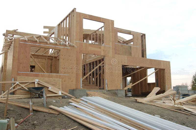 New construction site stock photography