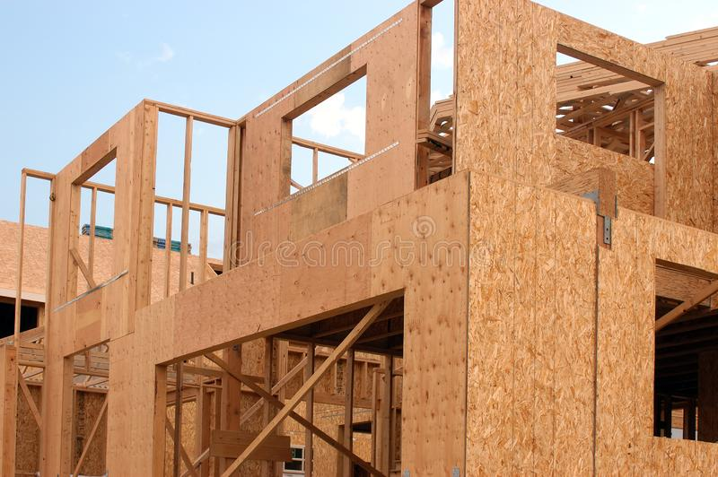 New construction site royalty free stock photography