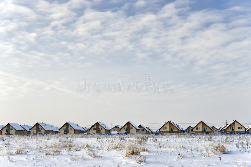 Download New cottages in winter stock image. Image of background - 13227139