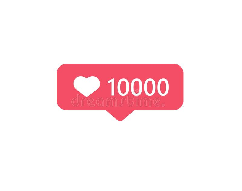 New Counter Notification Social media instagram modern 10000 like. For web, app, icon, like , vector file , illustration, instgram comments, symbol , facebook vector illustration