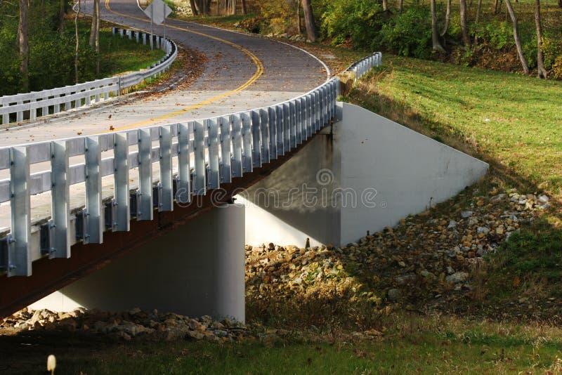 New country road bridge stock photography