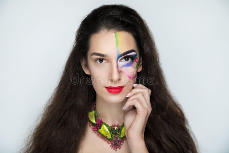 Fantasy woman make up stock images