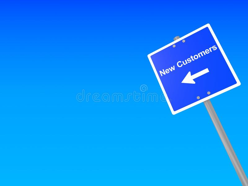New customers sign royalty free stock photography