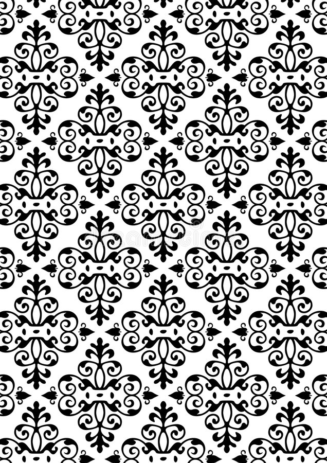 Download New Damask Style Pattern stock vector. Image of texture - 5632646