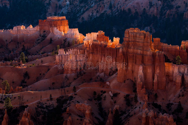A New Day Dawning at Bryce Canyon. In Southern Utah royalty free stock photos