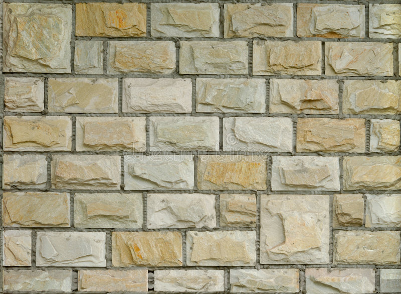 New Decorative Brick Wall royalty free stock image