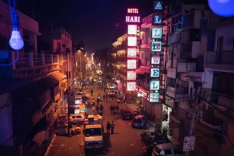 Night Main Bazaar top view royalty free stock images
