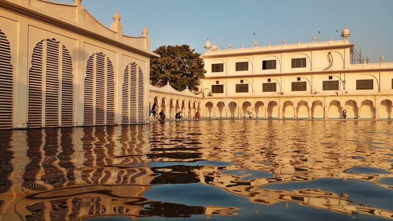 NEW DELHI INDIEN - Januari 21, 2019, Gurudwara Nanak Piao Sahib, Gurdwara Nanak Piao är en historiska Gurudwara som lokaliseras i royaltyfria foton