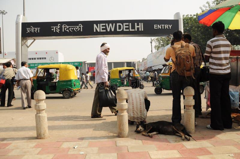 New Delhi railway station, India royalty free stock image