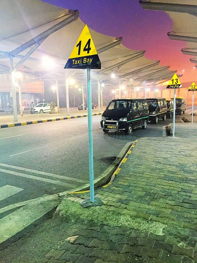 New Delhi taxi linia fotografia royalty free