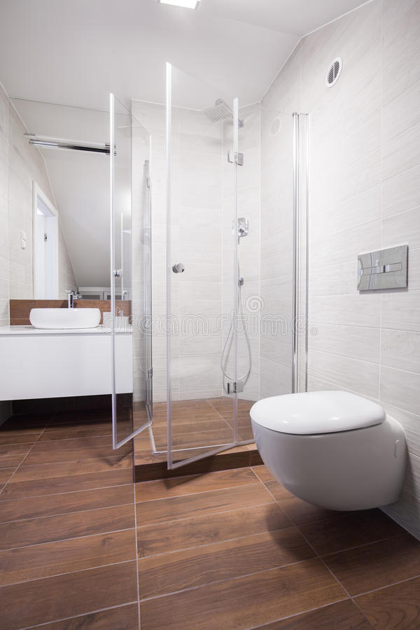 New design bathroom interior stock image