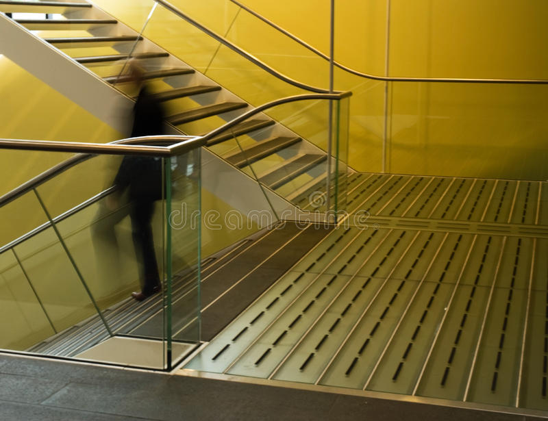 New designed stairs stock photography
