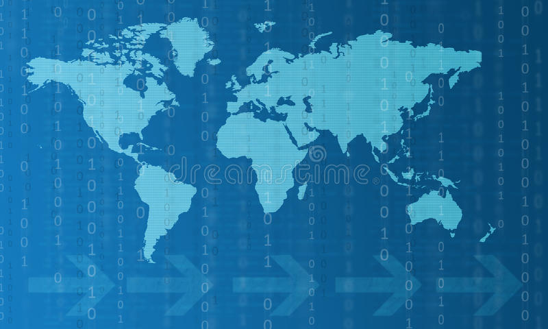 New digital communication technologies stock illustration