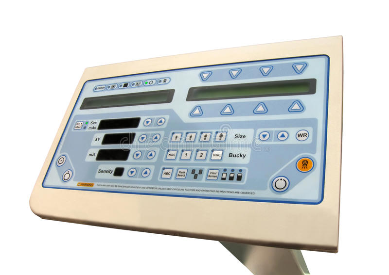 New digital tomography control panel,display test, royalty free stock photo