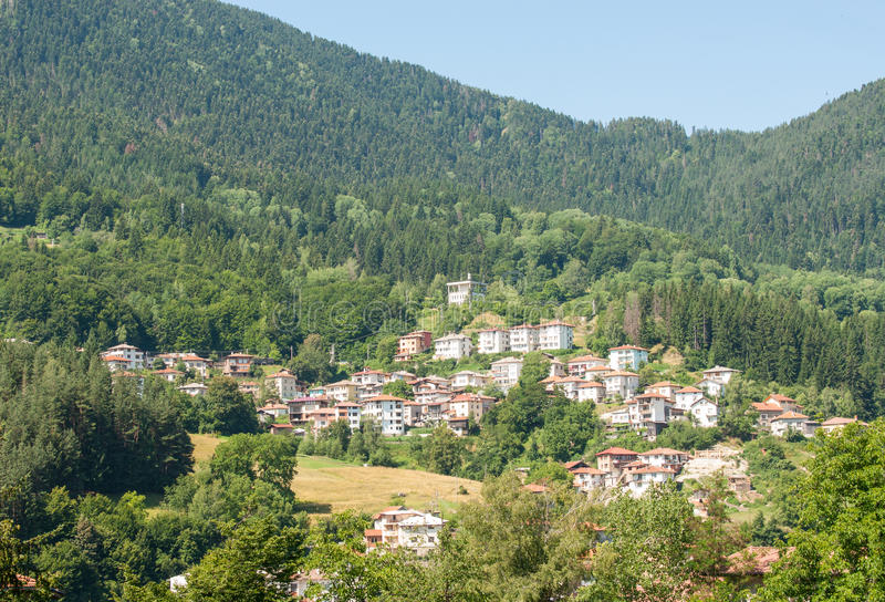 The new district of Smolyan in Bulgaria royalty free stock image