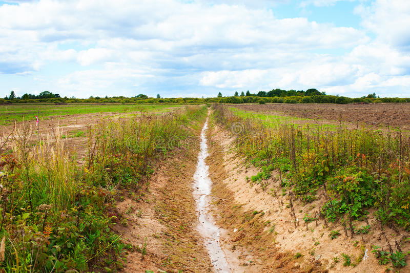 New ditch. royalty free stock photos