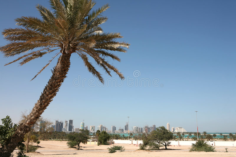New Doha Skyline Stock Image