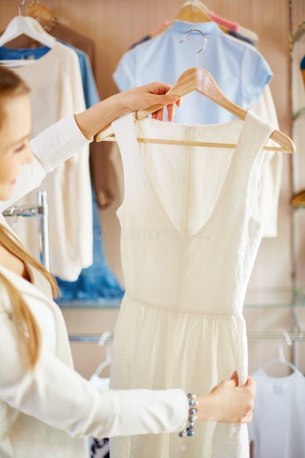 New dress stock image
