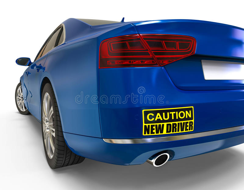 New driver bumper sticker concept stock illustration