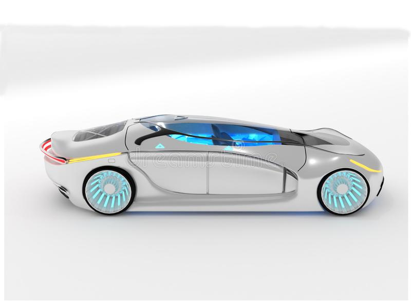 New electric concept car or  prototype royalty free illustration