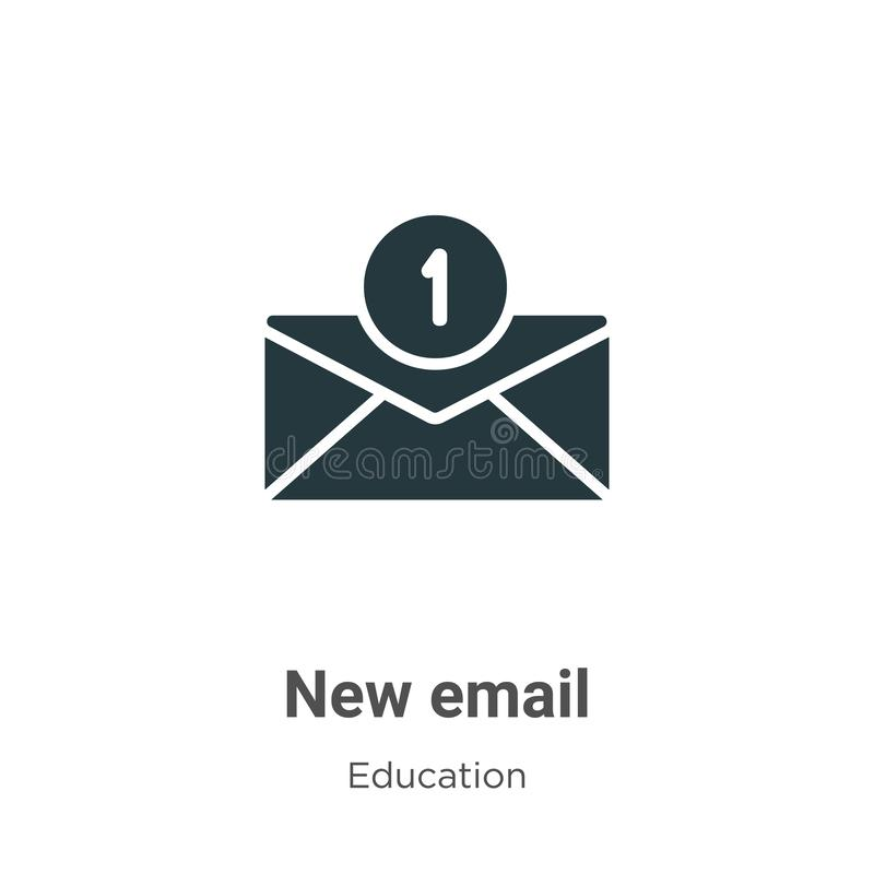 New email vector icon on white background. Flat vector new email icon symbol sign from modern education collection for mobile royalty free illustration