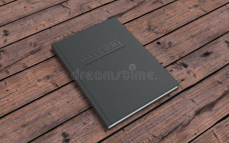 New Employee Handbook royalty free illustration