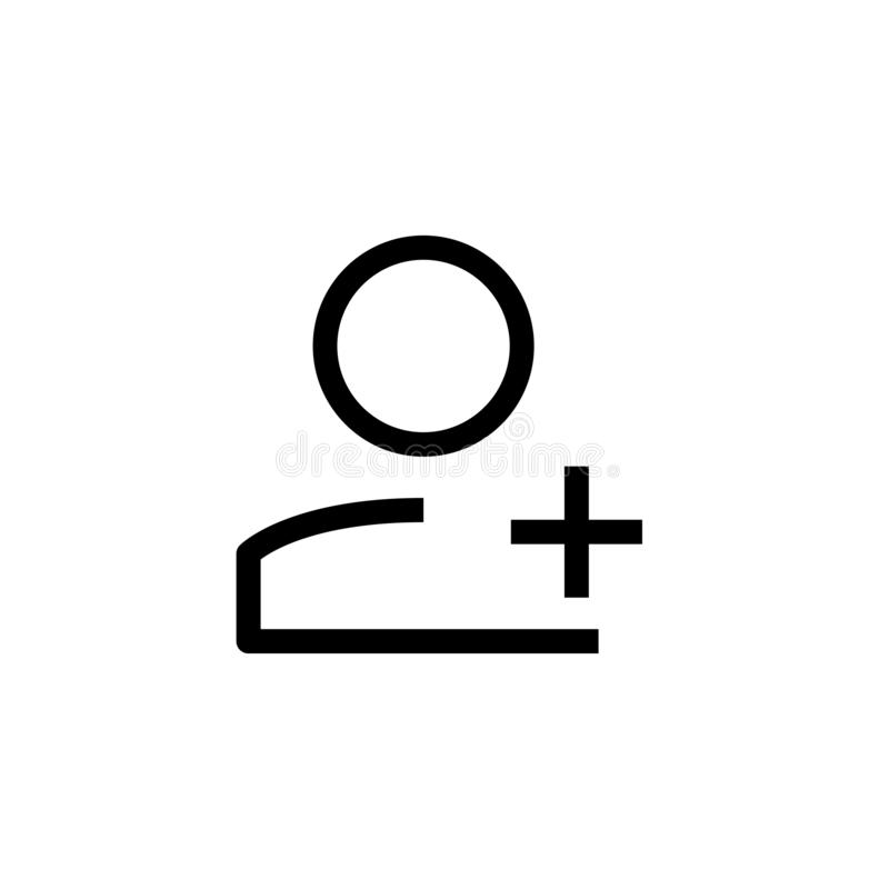 New employee icon design. person worker with plus sign symbol. simple clean line art professional business management concept. Vector illustration design. eps vector illustration