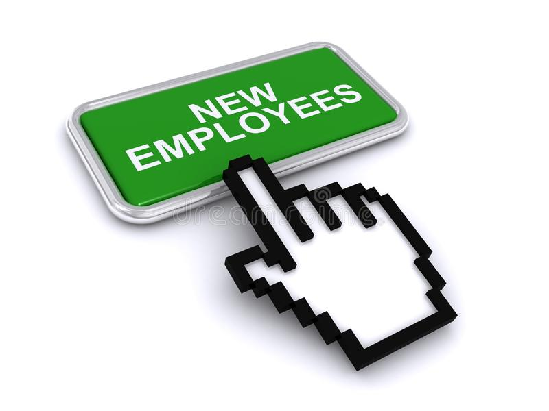 New employees button. On white background royalty free illustration