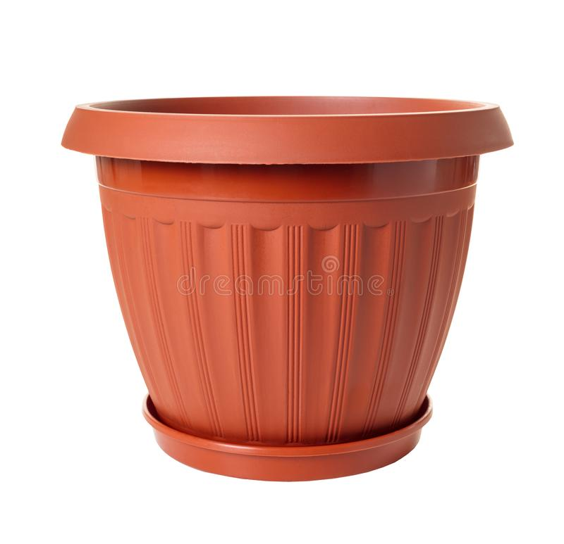 New empty flowerpot. On white isolated background royalty free stock images