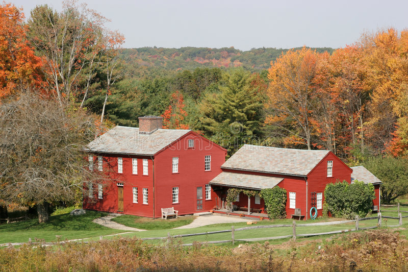 Download New England Architecture In Fall Colors Stock Photo - Image: 1399972