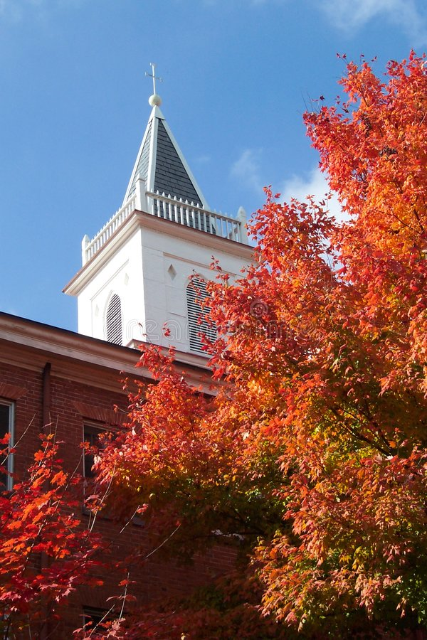 New England Autumn in Georgetown stock photography