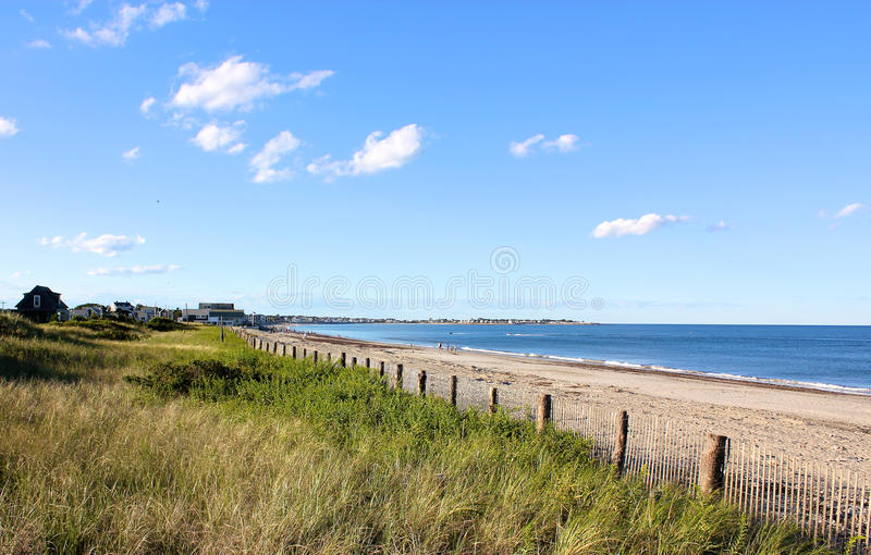 New England Beach. A Cape Cod, MA, New England beach lying in the afternoon sun royalty free stock image
