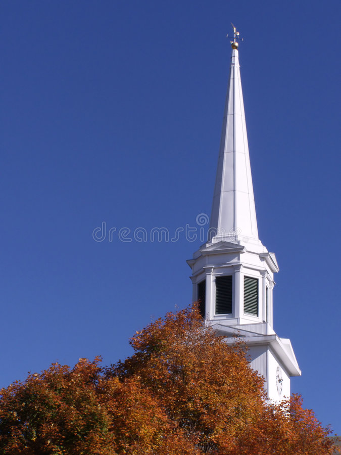 New England Church stock image