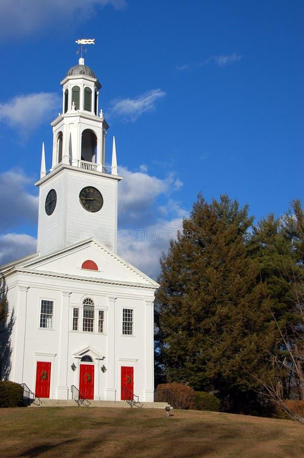New England Church Stock Photo