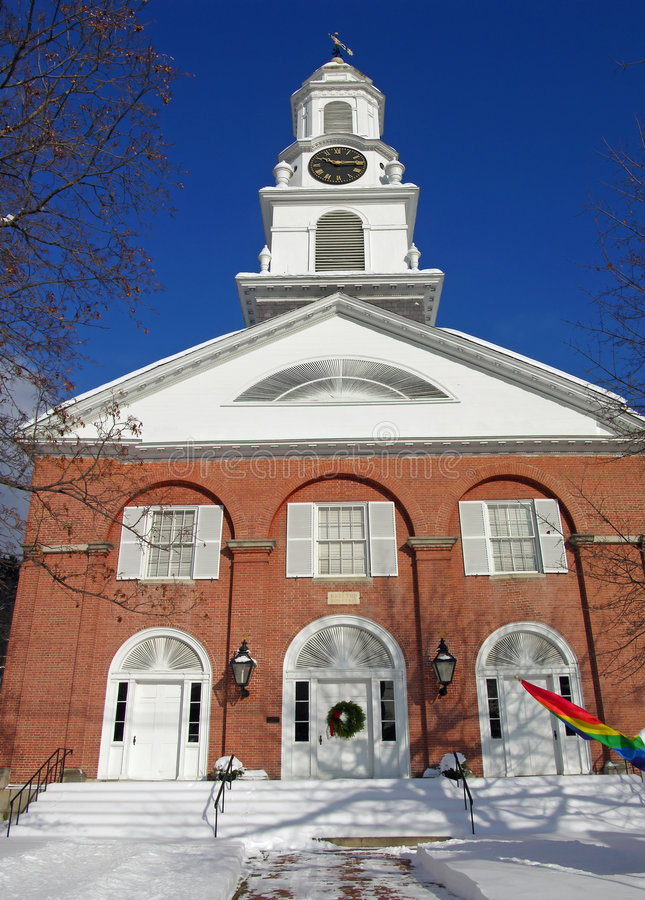 New England Church stock images
