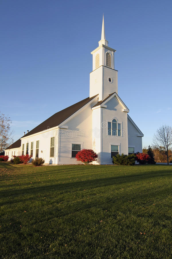 New England Church in Autumn royalty free stock photography
