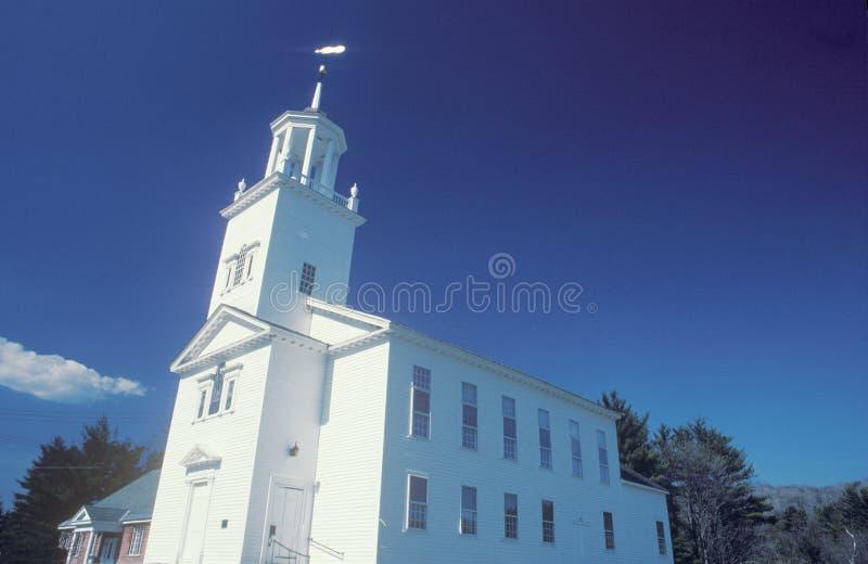 A New England church in Marlborough Massachusetts stock images