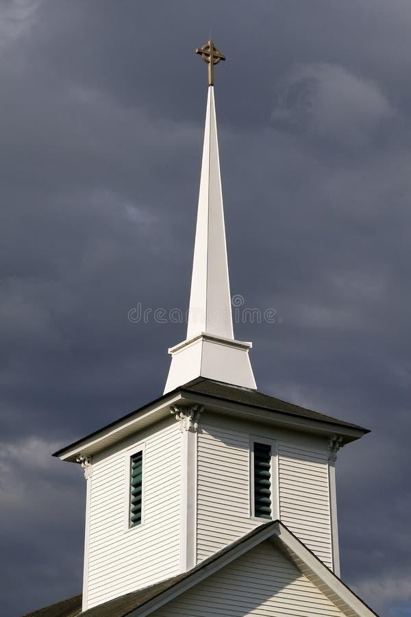 New England Church Steeple royalty free stock photos