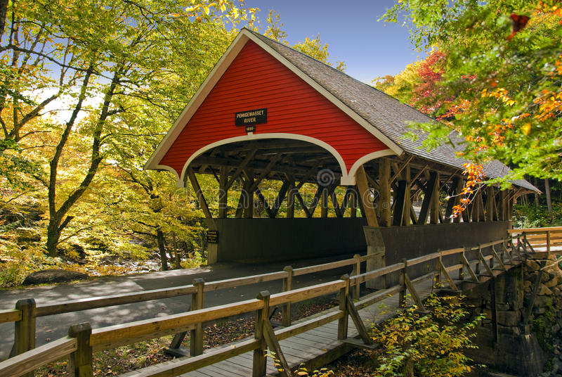 New England covered bridge royalty free stock photo