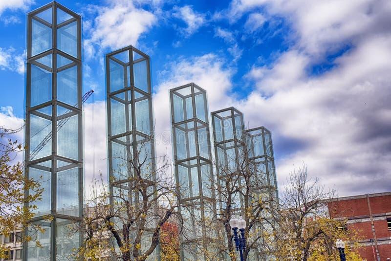 New England förintelse minnes- Boston Massachusetts royaltyfri foto