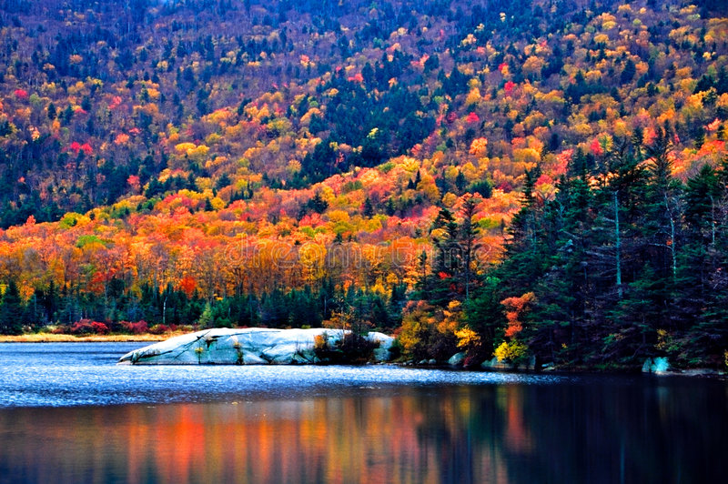 New England fall foliage stock images