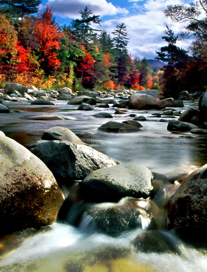 Download New England Fall Foliage stock photo. Image of brook, lake - 1388802