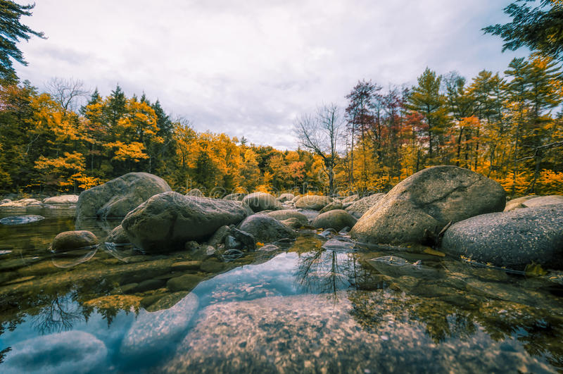 New England in fall. Fall foliage in New Hampshire, New England royalty free stock photography