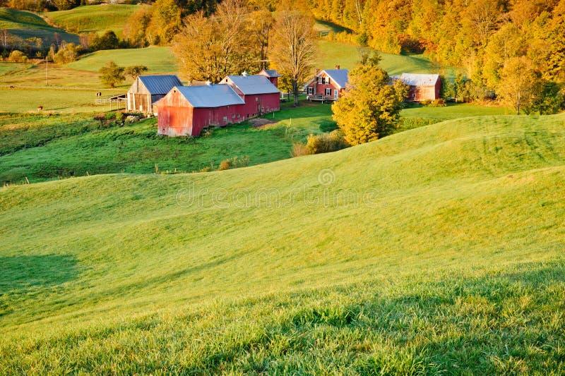 New England Farm in Autumn royalty free stock photo