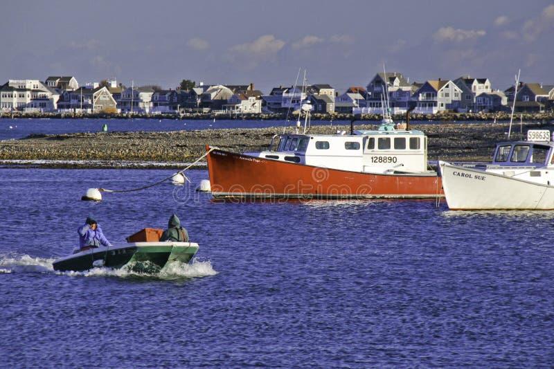 New England Fishermen and Fishing Boats stock photography