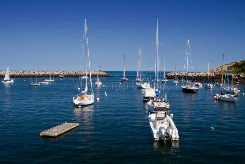 New England Harbor royalty free stock images
