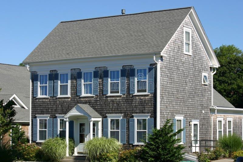 New England hus 1 arkivbilder